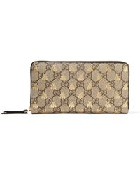 Gucci - Printed Coated-canvas Continental Wallet - Lyst