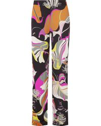 Emilio Pucci - Printed Jersey Straight-leg Pants - Lyst