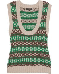 Burberry - Fair Isle Cashmere And Wool-blend Tank - Lyst