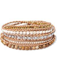 Chan Luu - Leather Multi-stone Wrap Bracelet - Lyst