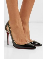 Christian Louboutin Cosmo 554 100 Patent-leather Pumps - Black