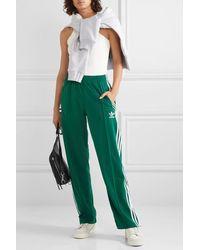 adidas Originals Firebird Striped Tech-jersey Track Pants - Green