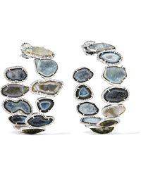 Kimberly Mcdonald | 18-karat White Gold, Geode And Diamond Hoop Earrings | Lyst