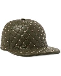 Valentino - Rockstud Quilted Leather Baseball Cap - Lyst