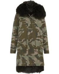 Mr & Mrs Italy | Shearling-lined Printed Cotton-canvas Parka | Lyst