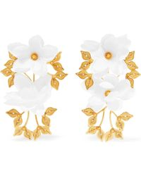 Mallarino - Greta Gold Vermeil And Silk Earrings - Lyst