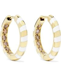 Alice Cicolini - Memphis Candy 14-karat Gold, Diamond And Enamel Hoop Earrings - Lyst