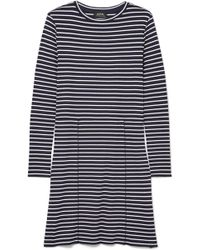 A.P.C. - Clementine Striped Ribbed-knit Dress - Lyst