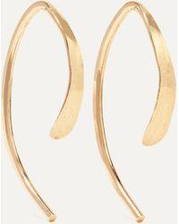 Melissa Joy Manning Wishbone Ohrringe Aus 14 Karat Gold - Mettallic