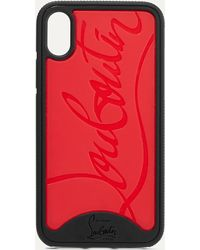 Christian Louboutin Loubiphone Embossed Pvc Iphone X And Xs Case - Red