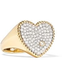 Yvonne Léon - 18-karat Gold Diamond Ring - Lyst