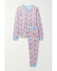 Morgan Lane + Loveshackfancy Kaia Pyjama Aus Stretch-jersey Mit Blumenprint - Pink