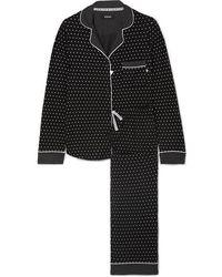 DKNY Printed Stretch-jersey Pyjama Set - Black
