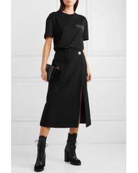Givenchy Oversized Sequin-embellished Cotton-jersey T-shirt - Black