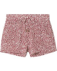 Anine Bing - Ashley Printed Washed-silk Pajama Shorts - Lyst