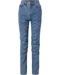 Y. Project - Panelled High-rise Straight-leg Jeans - Lyst