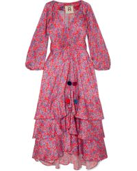 Figue - Frederica Floral-print Silk Crepe De Chine Maxi Dress - Lyst