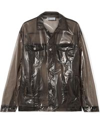 RED Valentino - Glossed-pu Jacket - Lyst