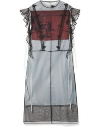 CALVIN KLEIN 205W39NYC - + Andy Warhol Foundation Layered Tulle And Printed Satin Midi Dress - Lyst