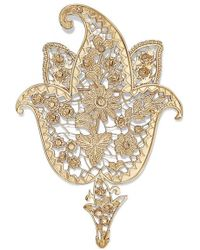 Etro Gold-tone And Crystal Brooch - Metallic