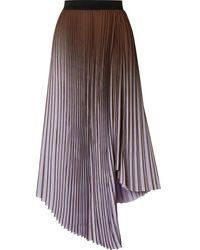 By Malene Birger Piza Dégradé Plissé Crepe De Chine Midi Skirt - Multicolor