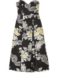 Erdem - Leora Floral-jacquard Midi Dress - Lyst