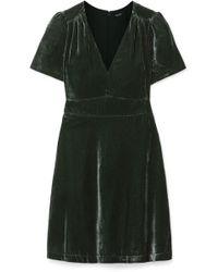 Madewell - Crushed-velvet Mini Dress - Lyst