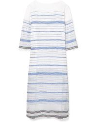 lemlem - Tiki Embroidered Cotton-blend Gauze Midi Dress - Lyst