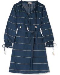 lemlem - Uju Striped Cotton-voile Dress - Lyst