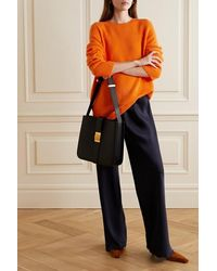 The Row Sibel Oversized Wool And Cashmere-blend Jumper - Orange
