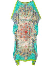 Etro - Boavista Printed Silk-georgette Kaftan - Lyst