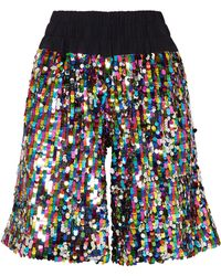 Mira Mikati - Sequined Tulle Shorts - Lyst