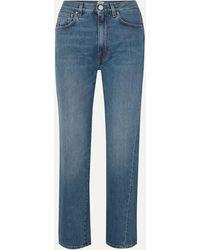 Totême Original High-rise Straight-leg Jeans - Blue
