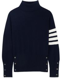 Thom Browne - Striped Cashmere Turtleneck Sweater - Lyst