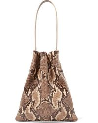 Tl-180 Fazzoletto Snake-effect Glossed-leather Shoulder Bag - Multicolour