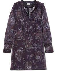 Jason Wu - Floral-print Fil Coupé Georgette Mini Dress - Lyst