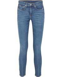 Brock Collection - Jean Skinny Raccourci Taille Haute James - Lyst