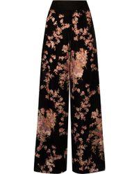 Myla - Kensington Gardens Devoré-velvet Pyjama Trousers - Lyst
