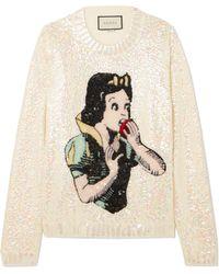 Gucci - Pull En Laine à Sequins, à Appliqués Et à Cristaux Par Disney - Lyst