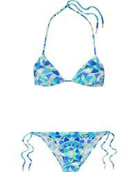 Emilio Pucci - Arenal Printed Triangle Bikini - Lyst