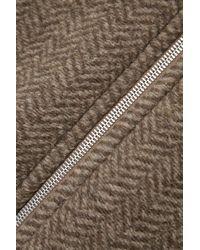 Acne Studios Oversized Herringbone Wool-blend Jacket - Brown