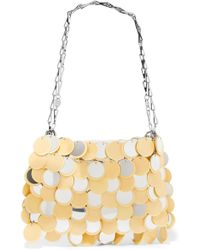 Paco Rabanne - Sparkle 1969 Sequined Faux Leather Shoulder Bag - Lyst