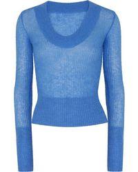 Jacquemus Alpaca Blend Knit Sweater - Blue