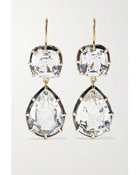 Fred Leighton Collection Silver-topped 18-karat Gold Topaz Earrings - Metallic