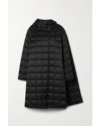 Theory Quilted Shell Down Coat - Black