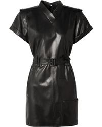 Tom Ford - Belted Leather Mini Dress - Lyst