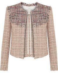IRO | Walefa Frayed Cotton-blend Tweed Jacket | Lyst