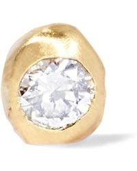 Wwake - Nugget 10-karat Gold Diamond Earring Gold One Size - Lyst