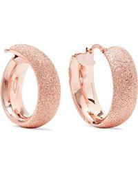 Carolina Bucci - Florentine 18-karat Rose Gold Hoop Earrings - Lyst