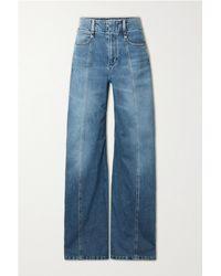 Chloé Hoch Sitzende Jeans Mit Weitem Bein - Blau